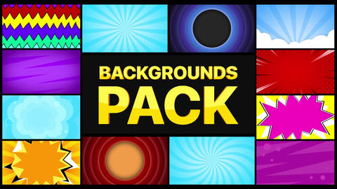 Backgrounds Pack Motion Graphics Template