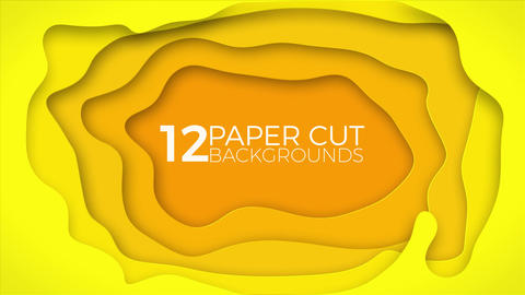 Paper Cut Backgrounds Motion Graphics Template