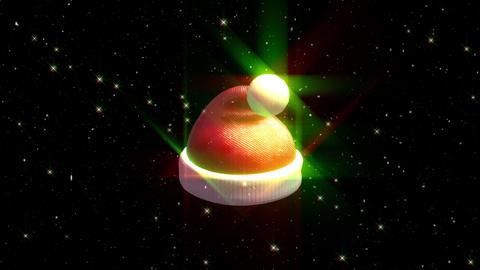 Christmas Santa hat particle loop animation Animation