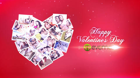 Sliding Photos Valentines Card After Effects Template