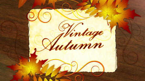 Vintage Autumn Promo After Effects Template