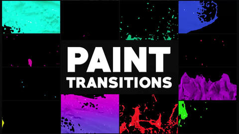 Dynamic Paint Transitions Apple Motion Template