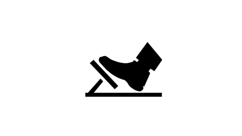 Gas pedal brake pedal isolated icon on white background auto service repair car detail Animation