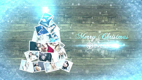 Sliding Photos Christmas Card After Effects Template