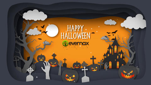 Halloween Wishes Paper After Effects Template