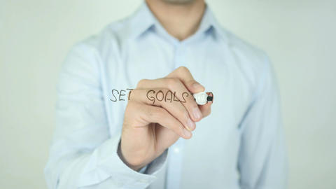 Set Goals Take Action, Writing On Transparent Screen Footage