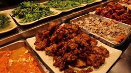 Taiwanese food buffet Taipei Taiwan Footage