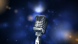 Microphone on background of starry sky Animation