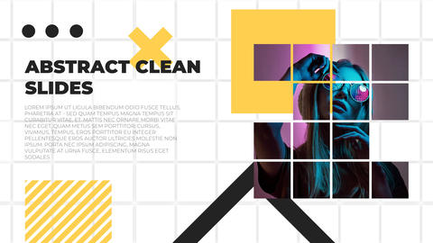 Abstract Clean Slides After Effects Template