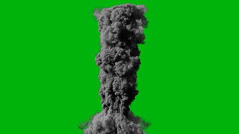 Close-up of the explosion and thick black smoke. Explosion and fire with smoke, fire and explosion 動畫
