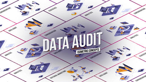Data audit - Isometric Concept After Effects Template