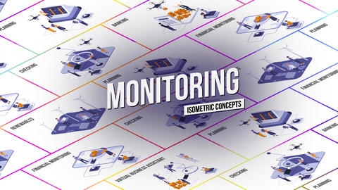 Monitoring - Isometric Concept After Effects Template