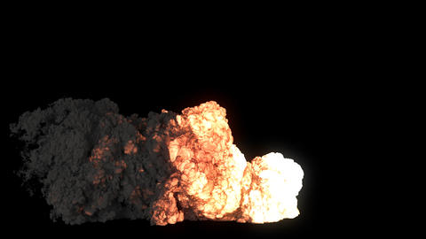 Strong explosion of explosives or fuel with black smoke. An explosion with black smoke on an Animation