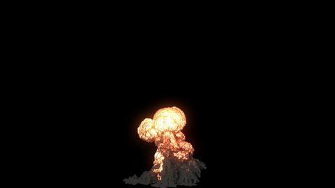An explosion with a lot of black smoke. An explosion with black smoke on an isolated background with 動畫