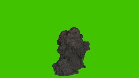 A big explosion with thick billowing smoke. Explosion with black smoke, explosion of explosives. VFX 動畫