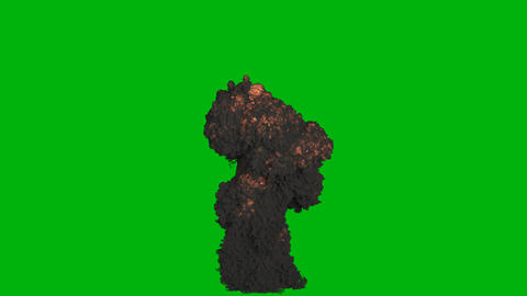 An explosion with a lot of black smoke. Explosion with black smoke, explosion of explosives. VFX Animation