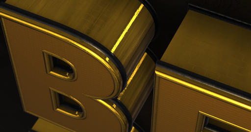 Best Deal. Promotion Intro. Gold Text Logo Animation