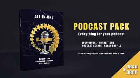Podcast pack After Effects Template