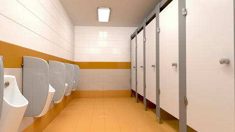 Men's public toilet Animation