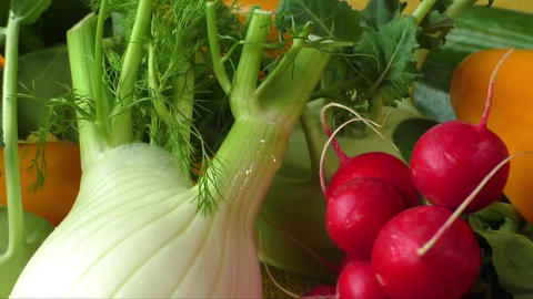 Different sorts of vegetables, selective focus. Healthy food ライブ動画