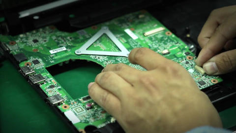 Assembling Components Of A Computer Footage