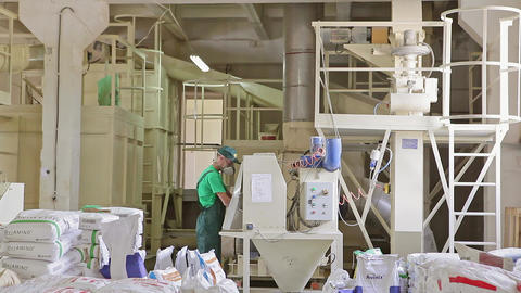 Production of Feed for Animals Added Vitamins Footage