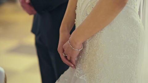 Wedding Couple, Bride and Groom Hands Footage