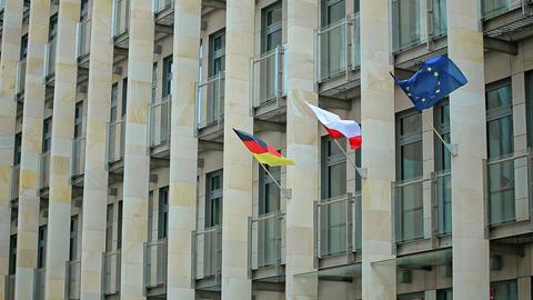 Polish Germany EU Flags of European countries Footage