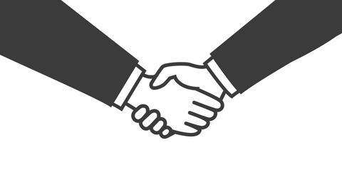 Handshake CG動画素材