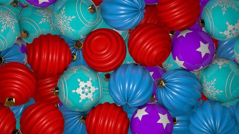 Falling Christmas Balls Transition Animation