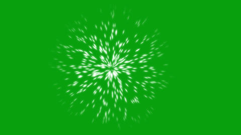 Light beams motion graphics with green screen background Animation