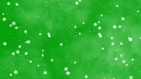 Snowfall motion graphics with green screen background 動畫