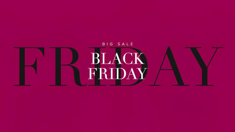 Animation intro text Black Friday on red fashion and minimalism background Animation