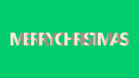 Animation intro text Merry Christmas on green fashion and minimalism background Animation