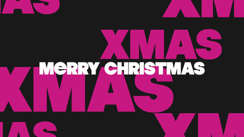 Animation intro text Merry Xmas on black fashion and minimalism background Animation
