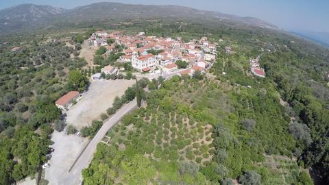 Panoramic view of Mili village at Samos island in Greece GIF