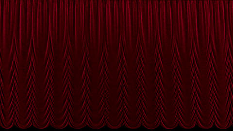 Red theater curtain in theater With alpha channel Live Action