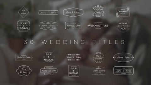 30 Wedding Titles After Effects Template