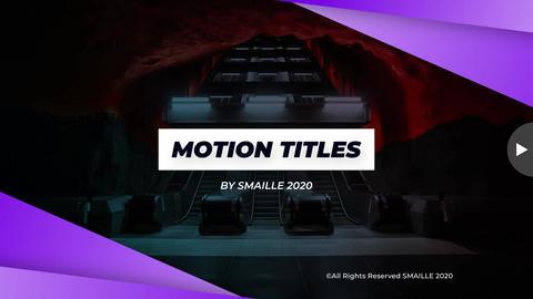 Motion Titles Premiere Pro Template