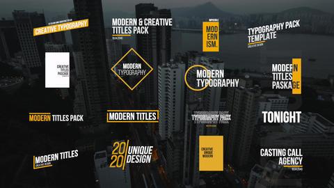 Modern Titles After Effects Template