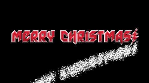 Merry Christmas on black BG font 1 Animation