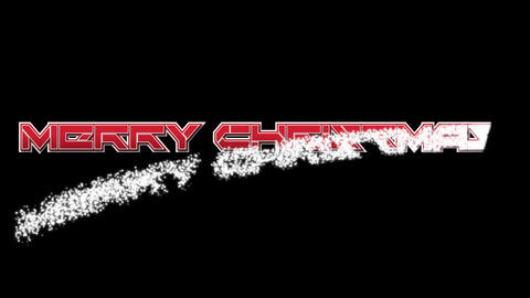 Merry Christmas on black BG font 3 Stock Video Footage