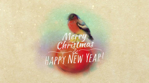 Christmas Card With Bullfinch
