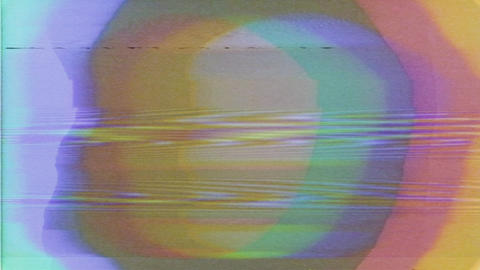 Digital Glitch RGB Circles Damage Noise Abstract Noise Background Animation
