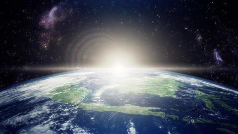 CG地球と宇宙背景セット After Effectsテンプレート