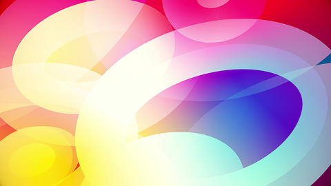 Slow motion of colourful shapes video background glassy and transparent circular shapes 5 Live Action