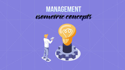 Management - Isometric Concept After Effects Template