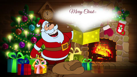 Christmas and New Year 2017 animated card with Santa Claus Animation