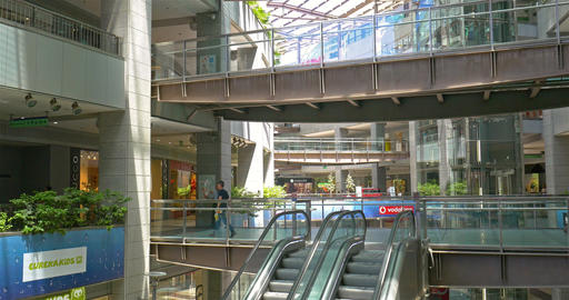 People Looking For Summer Sales In Shopping Luxury Mall Interior Footage