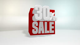 4K 60 fps loop. Black friday and cyber monday sale red cube 30 percent discount Animation